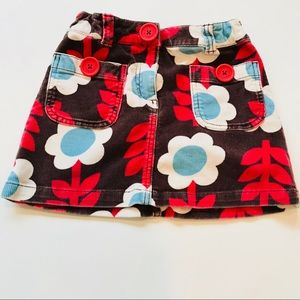 Boden girls 7-8 years old floral skirt